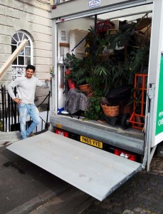 Van loaded ready to set off to Newcastle with our latest Tom's vans customer
